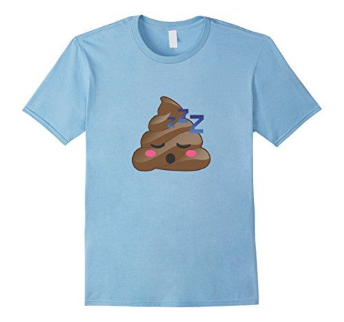 e1053fa2b61d Men s Cute Sleeping Poop Emoji Zzz T-Shirt Pajamas   PJs ...