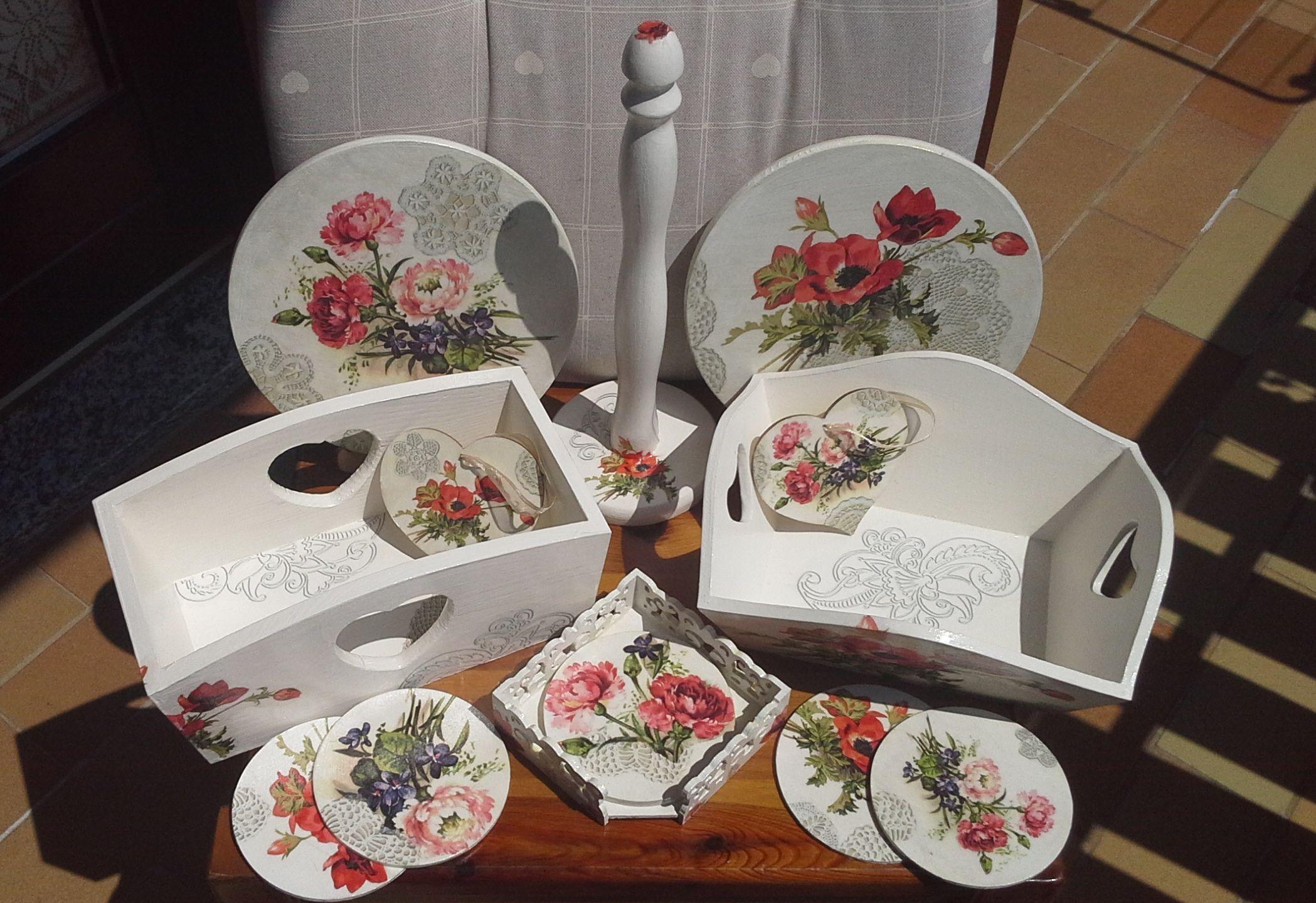 fiori per la mia cucina: sopporto in legno, carta di riso con fiori ...