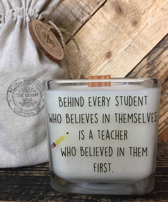 Teacher Gift Back To School Gift Gifts For Teachers Teacher Appreciation Custom Request Teacher Candle Personalized Teacher Gift Woodwick #teachergifts