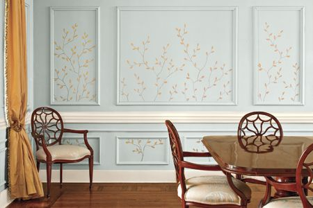 How To Paint A Decorative Twig Design Frames On Wall Wall Molding Wall Decor