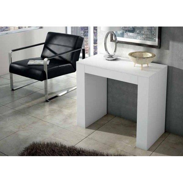 Mesa consola extensible blanca | Salón | Pinterest | Mesa consola ...