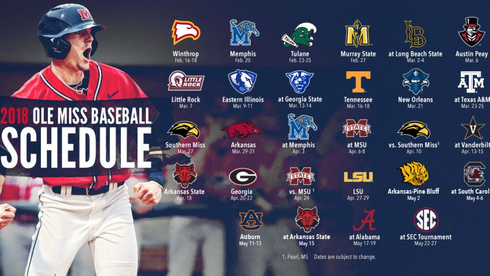 Ole Miss Baseball Announces 2018 Schedule Ole miss