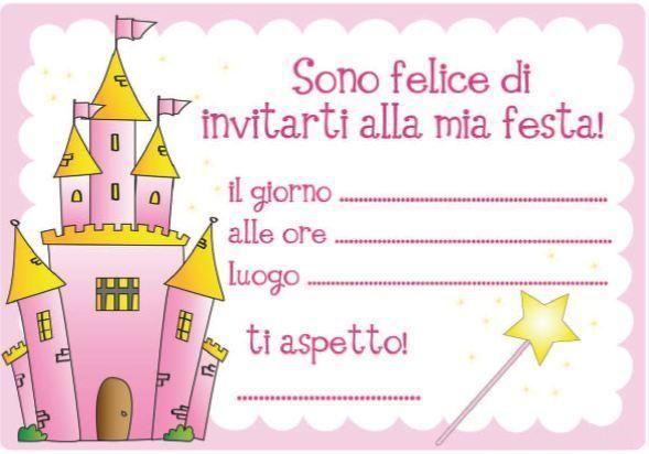 Connu INVITI-ALLA-FESTA castello rosa mod | inviti | Pinterest  BT54
