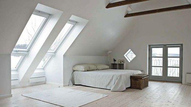 Dakraam zolder modern design in attic loft