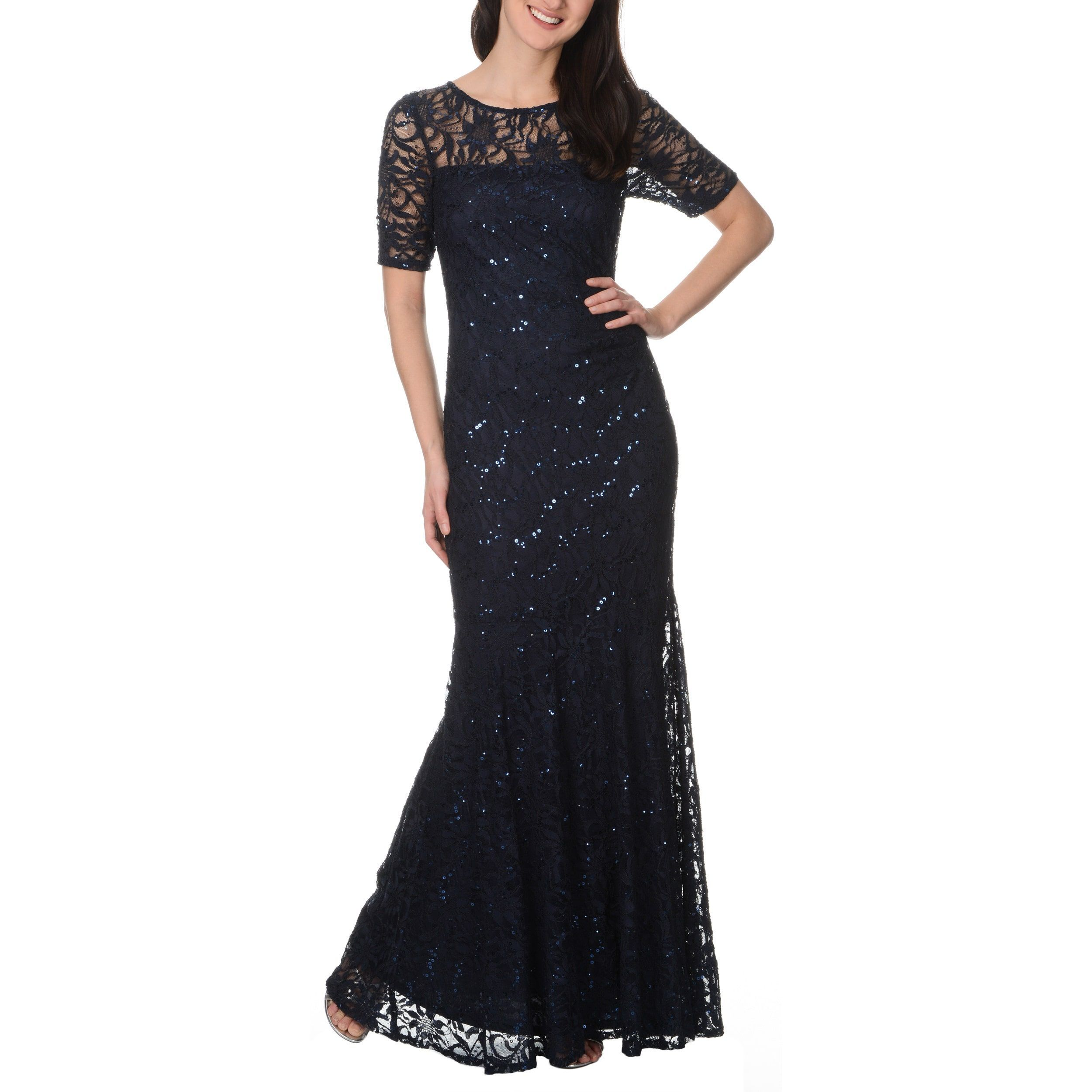 197df22cc013 Decode 1.8 Form Fitting Glitter Stretch Lace Gown | Products ...