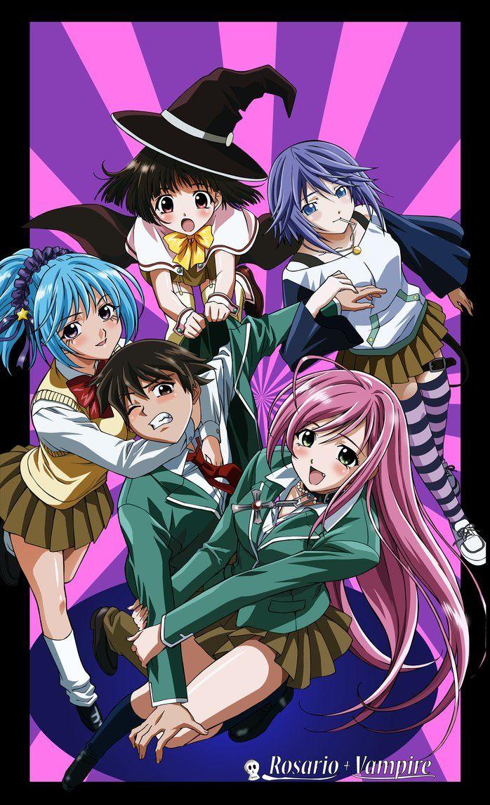 Rosario Vampire By Gimpy10145 On Deviantart Rosario Vampire Rosario Vampire Anime Anime