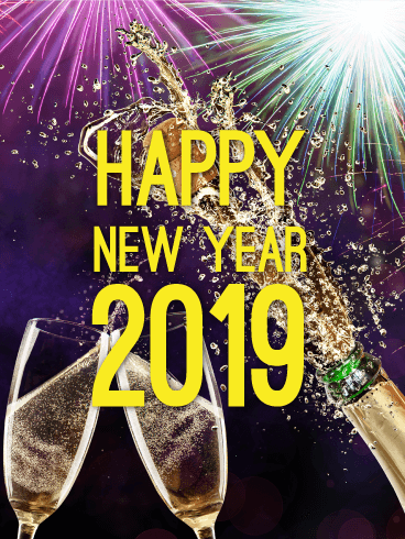 Cheers Happy New Year Card 2019 Cheers To The New Year Ring In