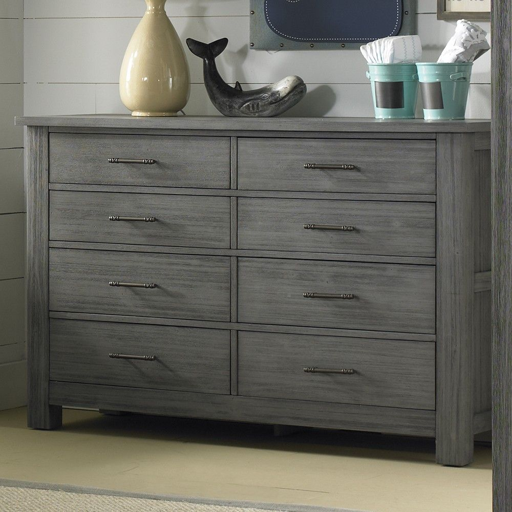 Dolce Babi Lucca 8 Drawer Dresser In Weathered Grey Grey Dresser Dresser Drawers 8 Drawer Dresser [ 1000 x 1000 Pixel ]