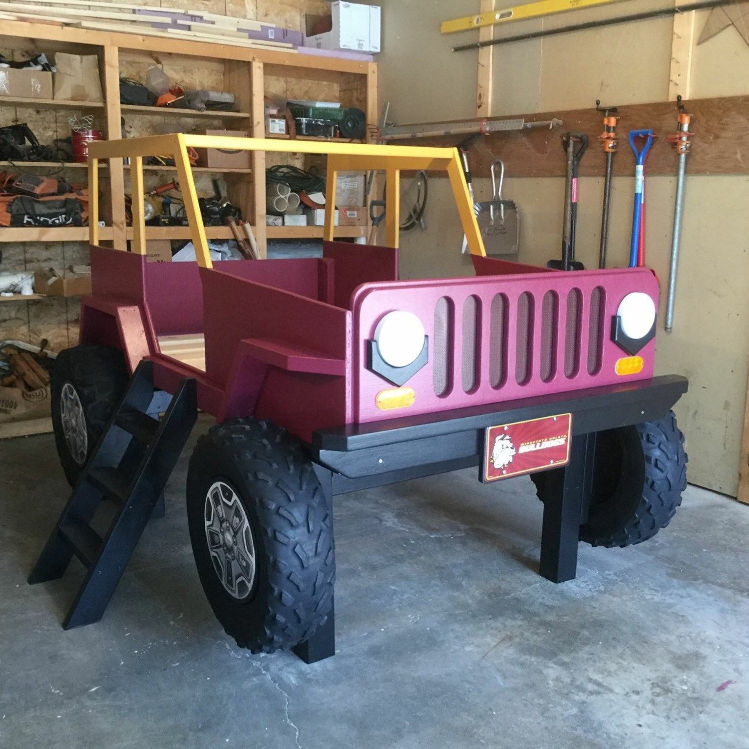 Jeep Bed Plans Twin Size Car Bed Cars, Car bed and Bed