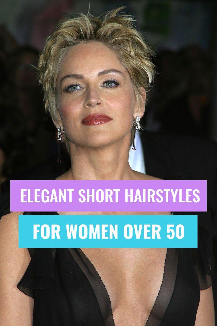 Elegant short hairstyles for women over 50 short