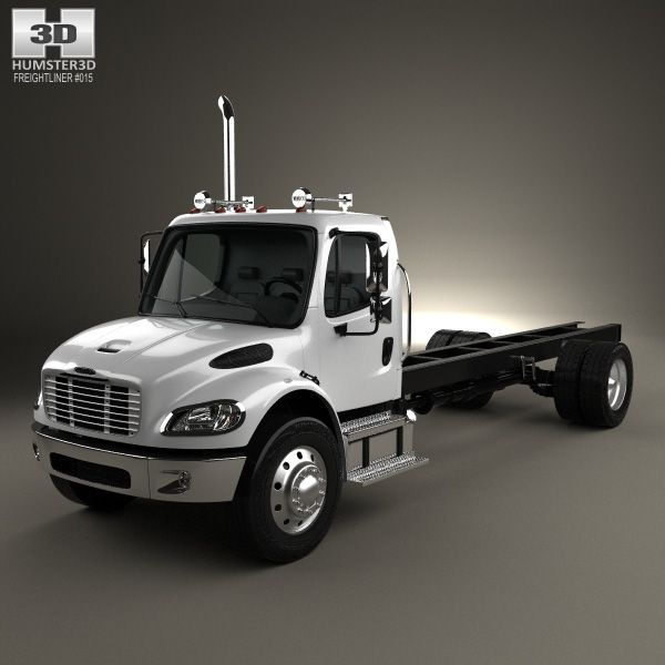 3d Model Of Freightliner M2 106 Day Cab Chassis Truck 2014 Модели