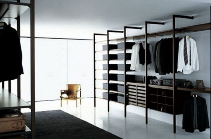 Walk In Closet Design For Surprising Gift Black Carpet Open Cloth Shelves