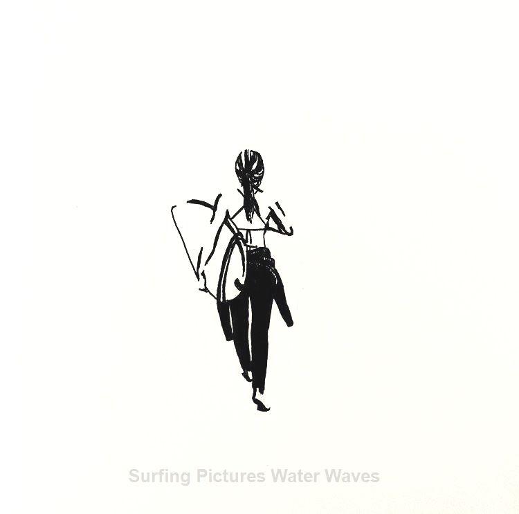 search surfer surfgirl bw illustration sketching by minsous SurfHair surf surfer surfgirl bw illust
