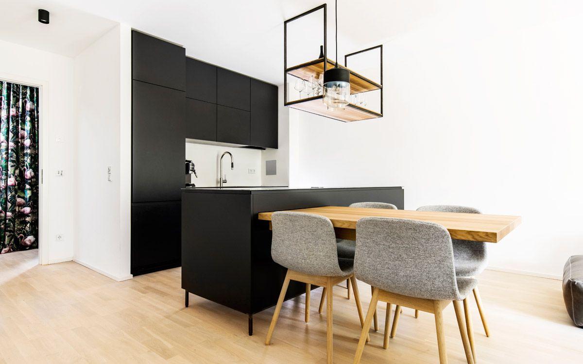 Küchenhersteller Einbauküche, Küche schwarz und Haus deko