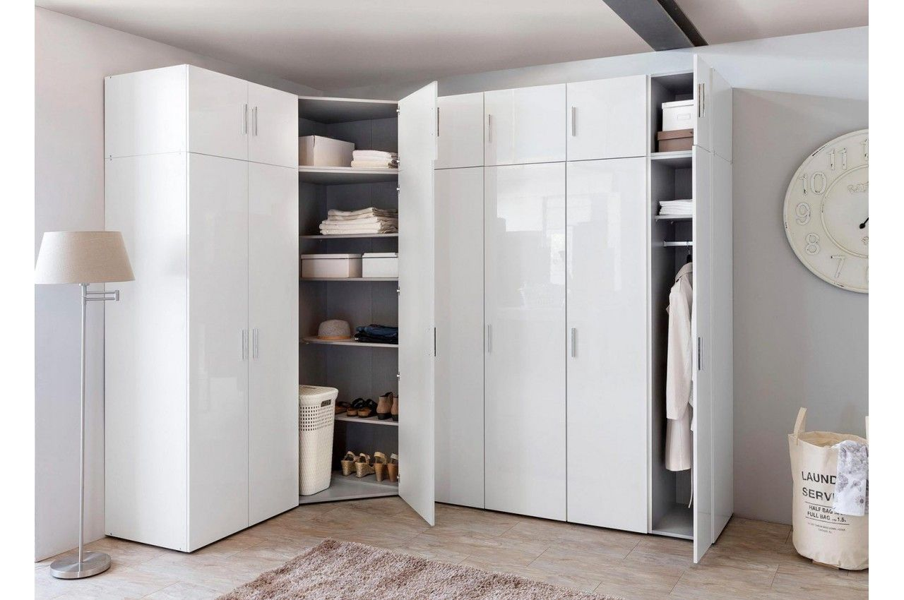 Dressing Modulable Pas Cher In 2020 Corner Wardrobe Angled Dress Armoire