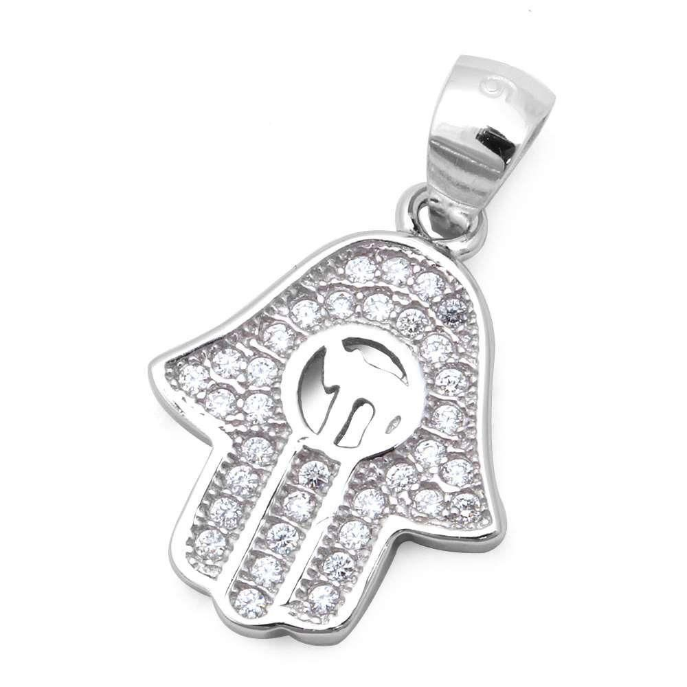Micro pave cz hand of god with hebrew chai symbol 925 sterling micro pave cz hand of god with hebrew chai symbol 925 sterling silver pendant buycottarizona