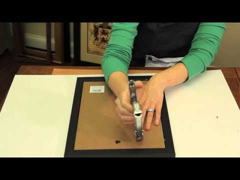 How To Secure The Backer To Picture Frames Picture Frame Crafts Youtube Picture Frame Crafts Frame Crafts Picture Frames