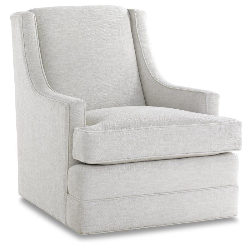 Two Swivel Rocker Chairs In The Family Room Facing The