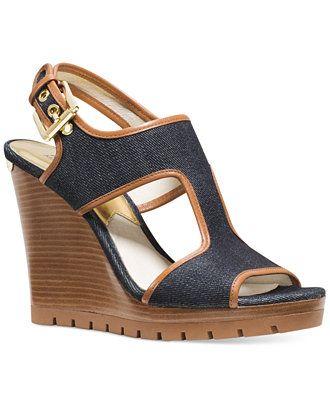0a26ce39e03 MICHAEL Michael Kors Gillian Mid Wedge Sandals - Sandals - Shoes ...