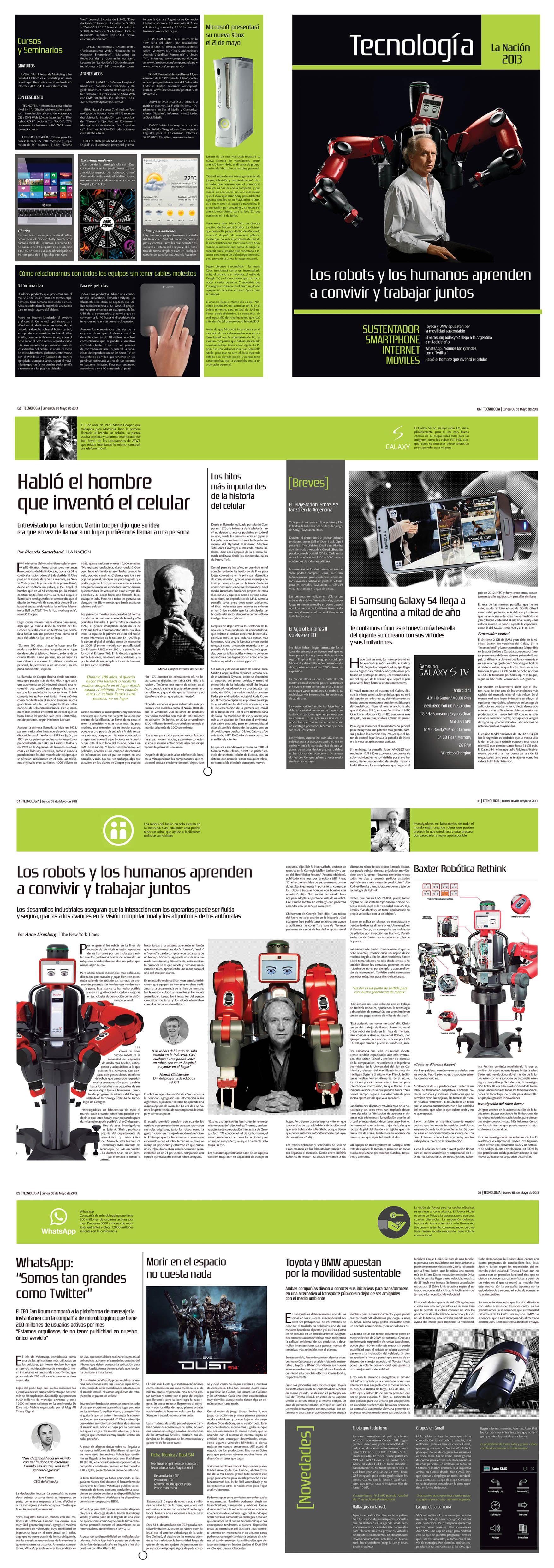 """Suplemento de Tecnologia - Diario """"La Nación"""" - Catedra Mazzeo"""