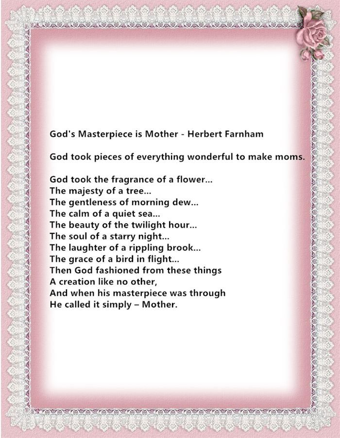 Religious Mothers Day Poems 1