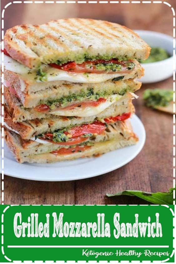 Grilled Mozzarella Sandwich Homemade Grilled Mozzarella Sandwich with Walnut Pesto and Tomato thats easy to assemble and bursting with flavor  lunch never looked so good...