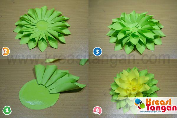 Kerajinan Tangan Dari Kertas Lipat Bunga Kertas Bunga Dari Origami