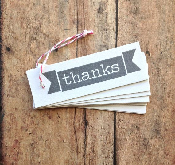 Thank you tags  gift tags  party favor tags  by PrintSmitten, $11.50