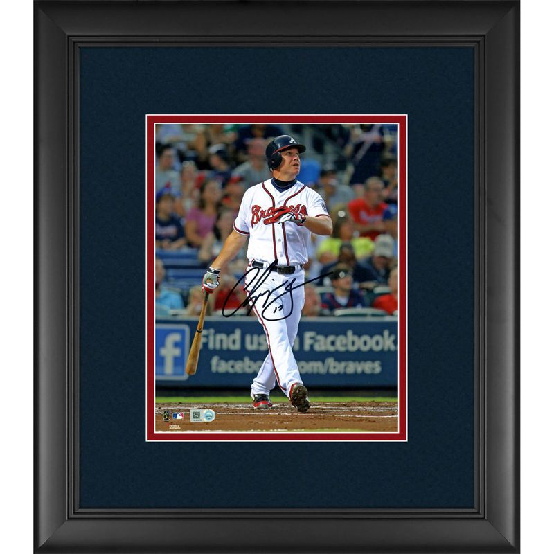 "Chipper Jones Atlanta Braves Fanatics Authentic Framed Autographed 8"" x 10"" Watching Ball Photograph"