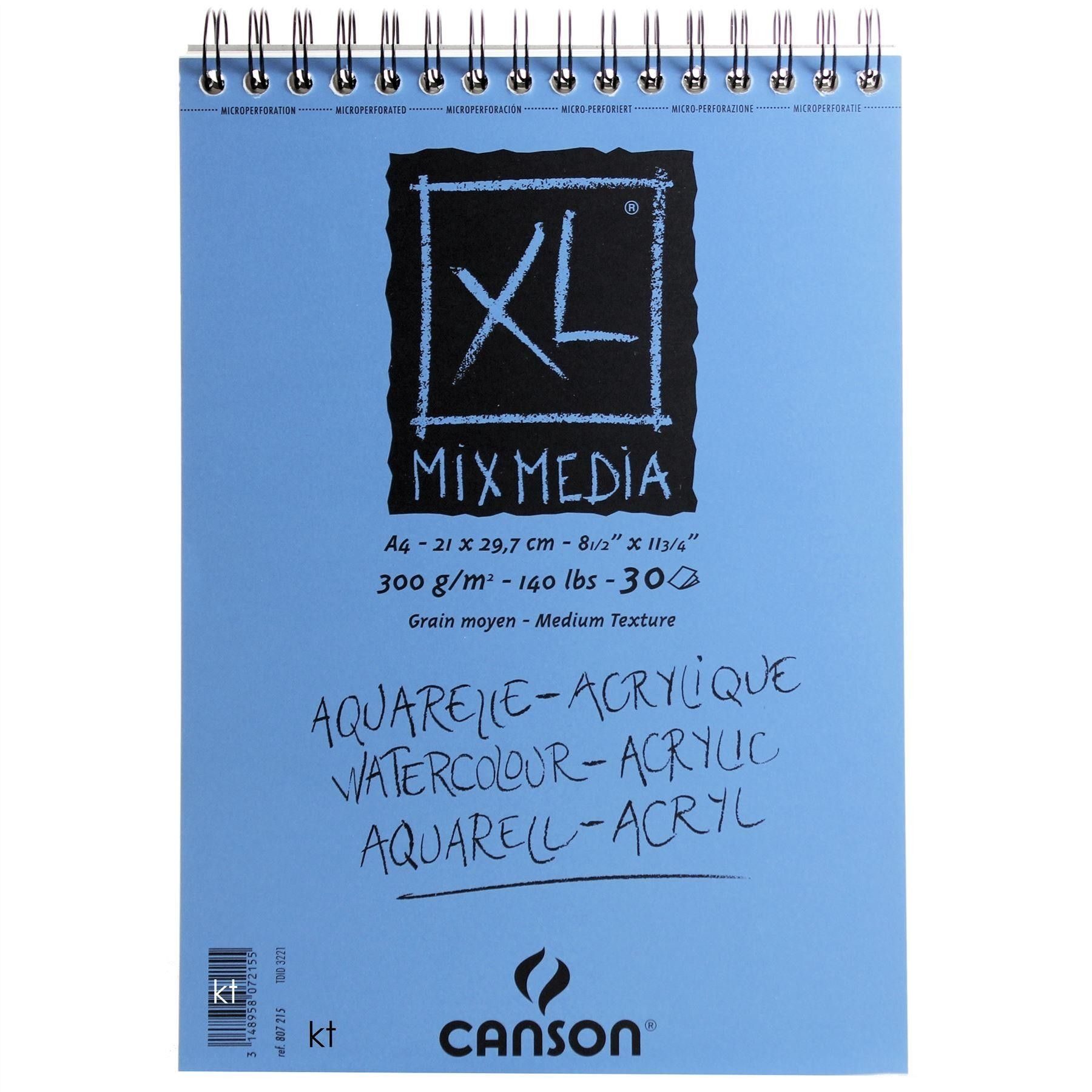 Canson Xl Mixed Media Paper Pad 300gsm 30 Sheets In 2020 Paper