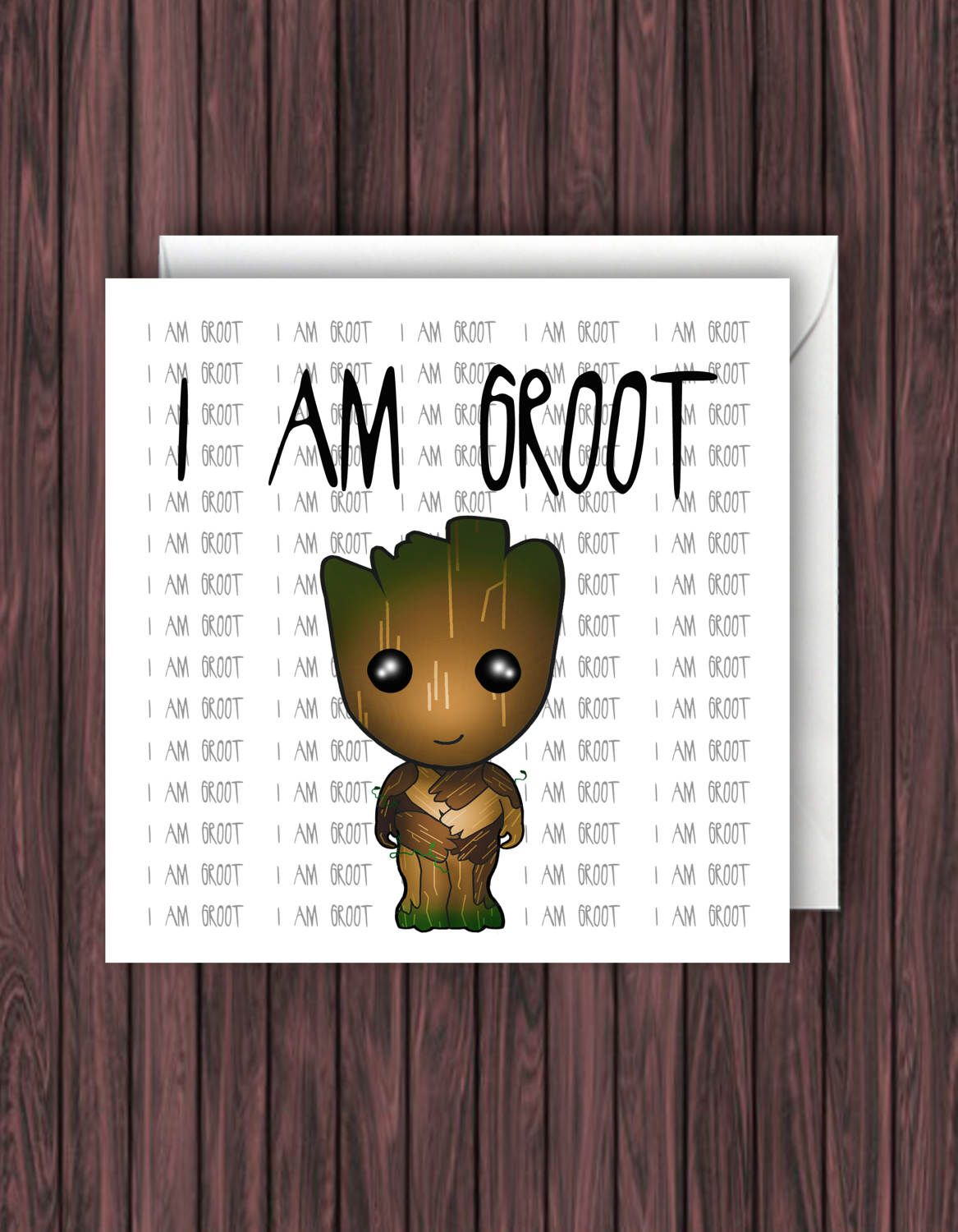 I am groot guardians of the galaxy birthday card marvel guardians of the galaxy birthday card marvel greetings card geek kristyandbryce Image collections