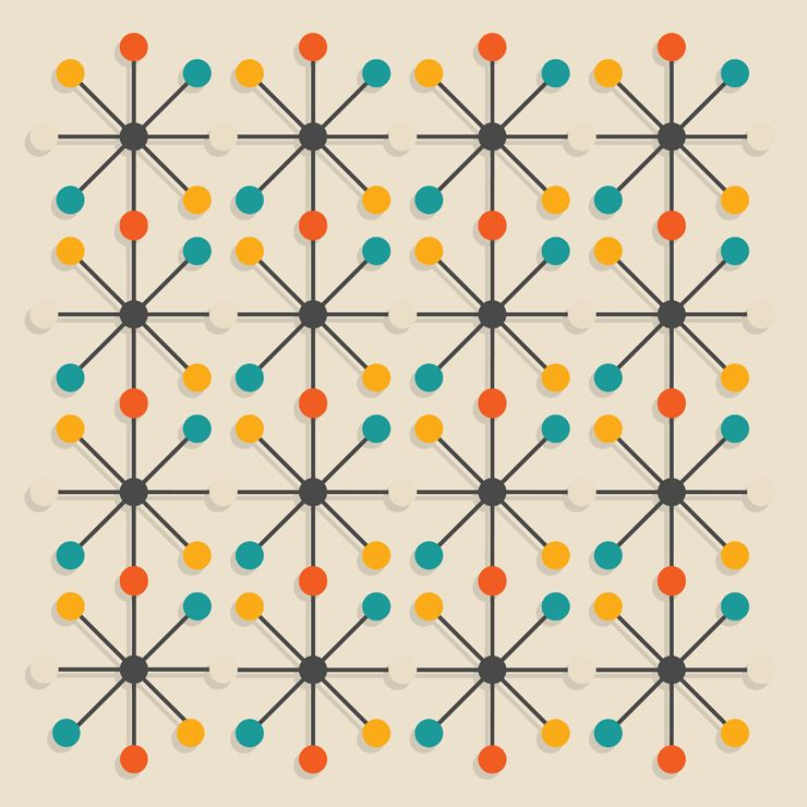 Mid-century Modern Pattern Mid century mod inspired Pinterest
