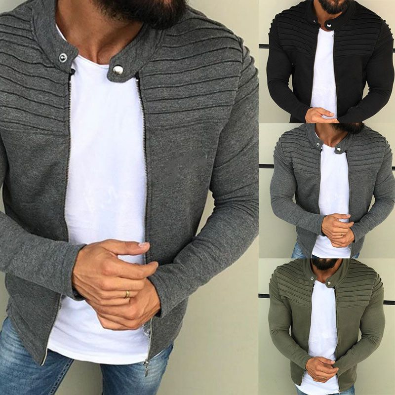 74254cc8 US Men's Winter Slim Casual Warm Hooded Sweatshirt Coat Jacket ...