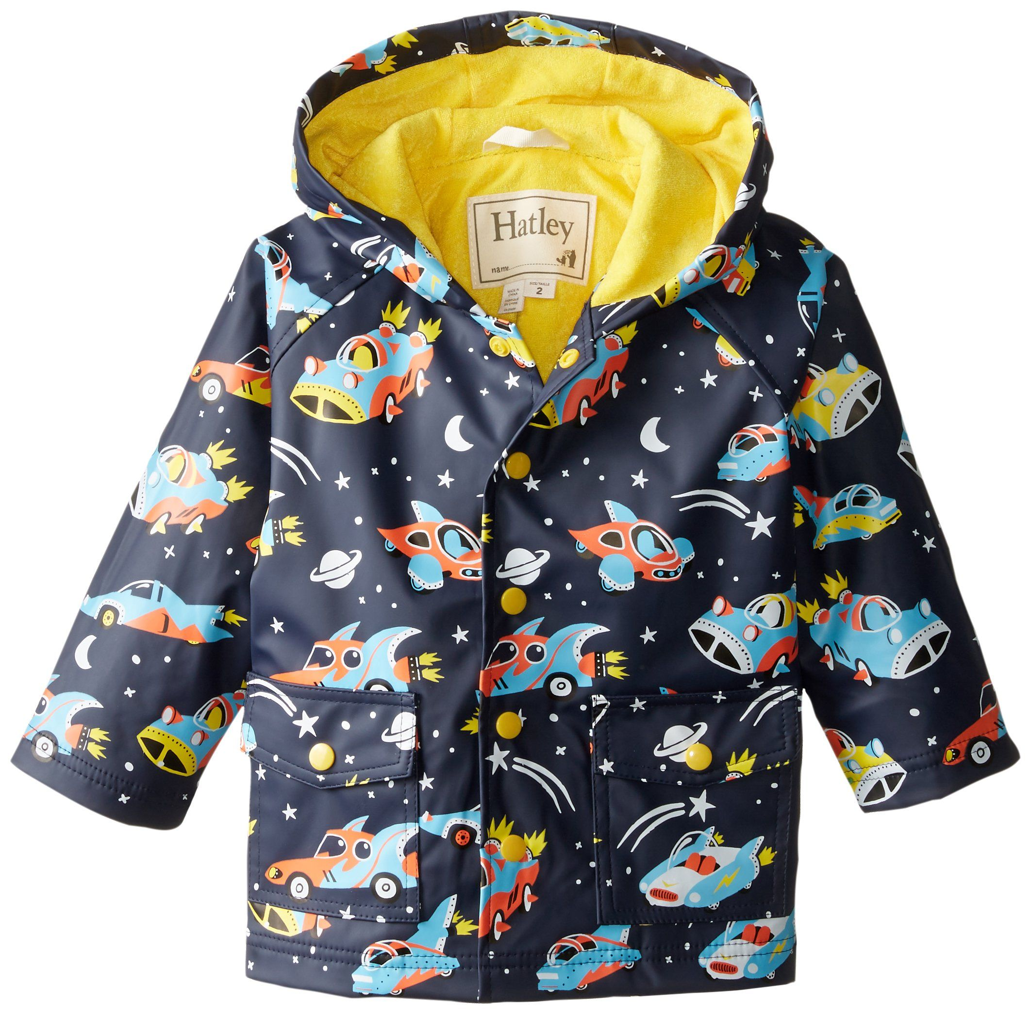 55a2080f6f03 FINN. Hatley Little Boys  Rain Coat Space Cars