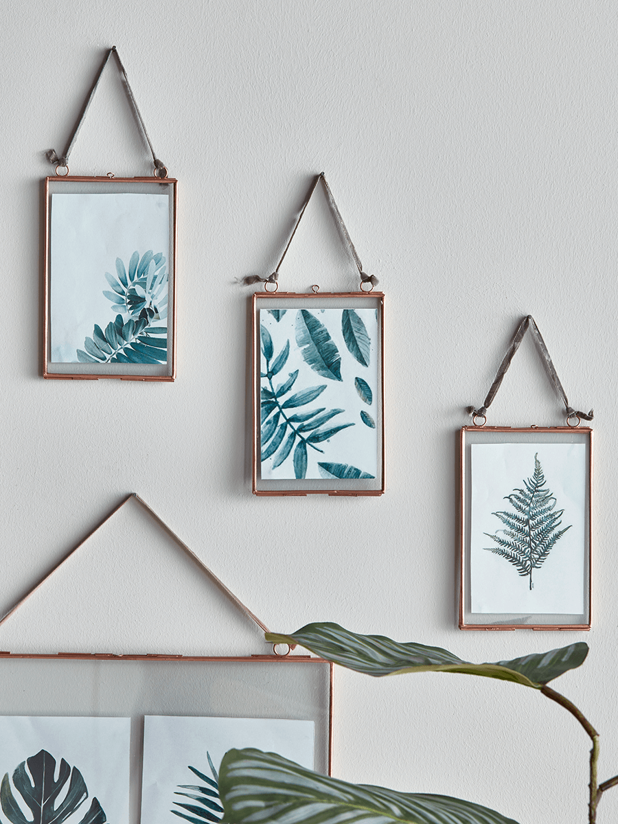 Delicate Hanging Glass Frame - Copper - Best Selling Furniture, Home ...