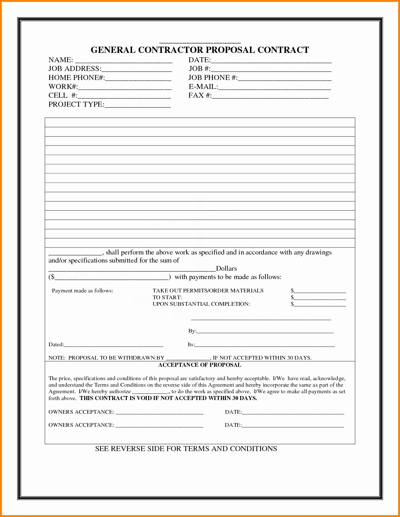 Construction Work Proposal Template In 2020 Proposal Templates