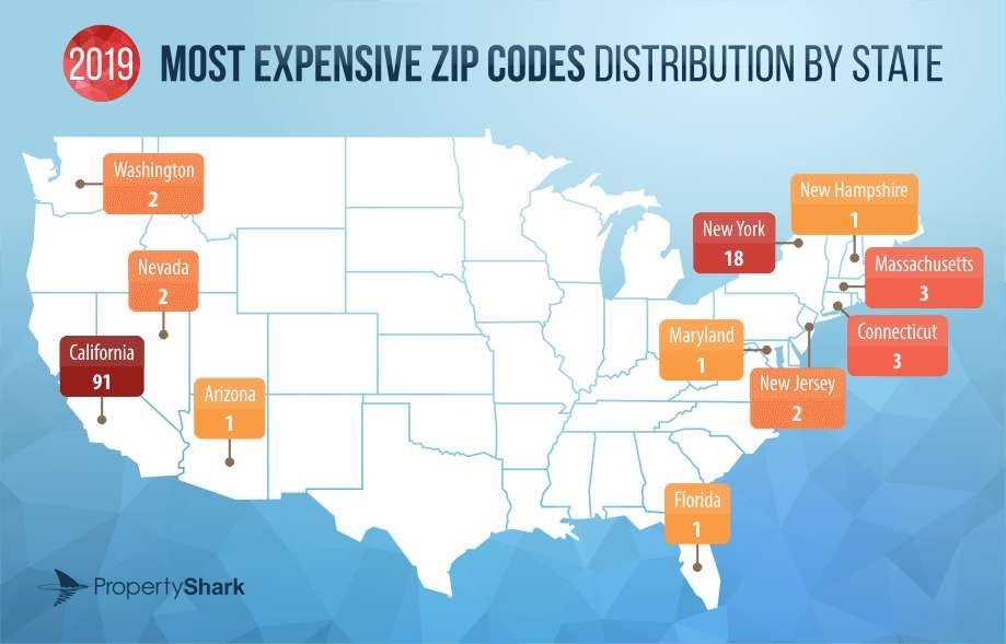 These Maps Reveal The Most Expensive Zip Codes In The U S Most