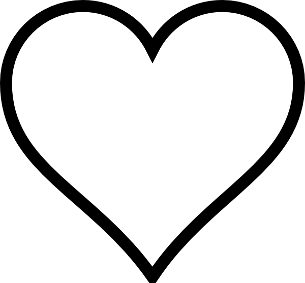 clip art black and white black and white heart clip art vector rh pinterest com clip art of heart health clip art of heart with the beat in it