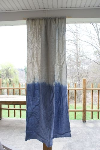 Hometalk :: DIY Dip Dye Drop Cloth Curtains