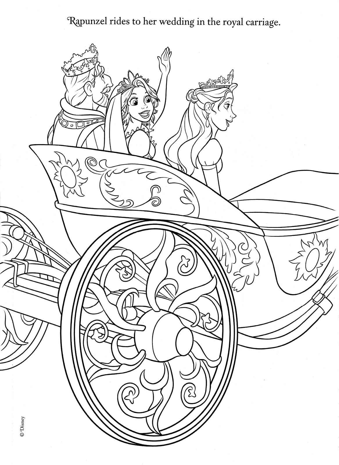Printable coloring sheets wedding - Printable Wedding Coloring Book Pages 10
