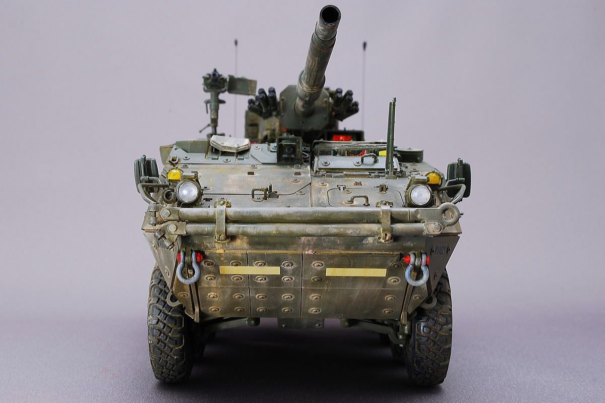 Complete work,1/35 scale,U.S. ARMY STRYKER M1128 MGS,AFV CLUB,armored car