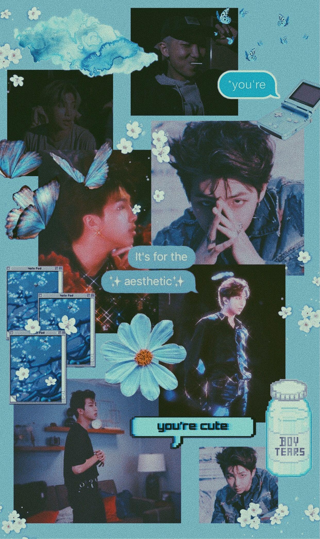 Bts Namjoon Rm Blue Aesthetic Wallpaper Background Gambar Wallpaper Lucu Lucu Wallpaper aesthetic rm bts