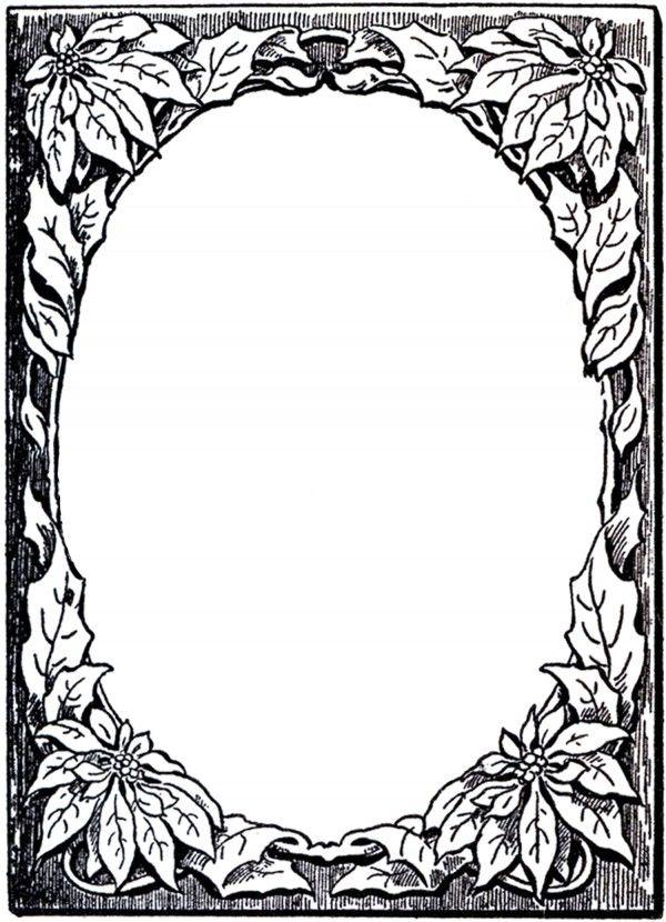 Рамки черно-белые поздравительной открытки
