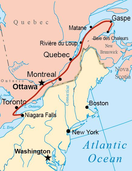 north east canada