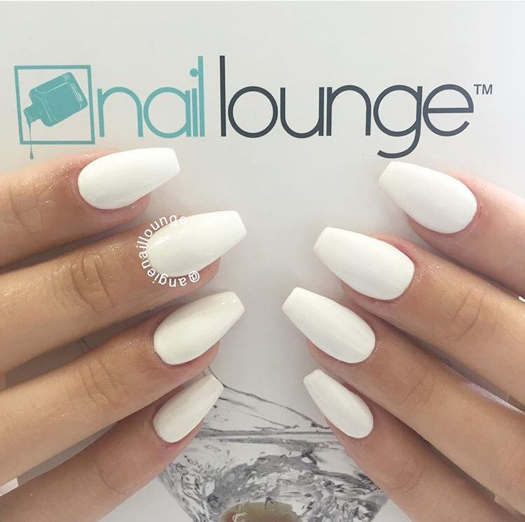 White On White With Images Acrylic Nails Coffin Short White