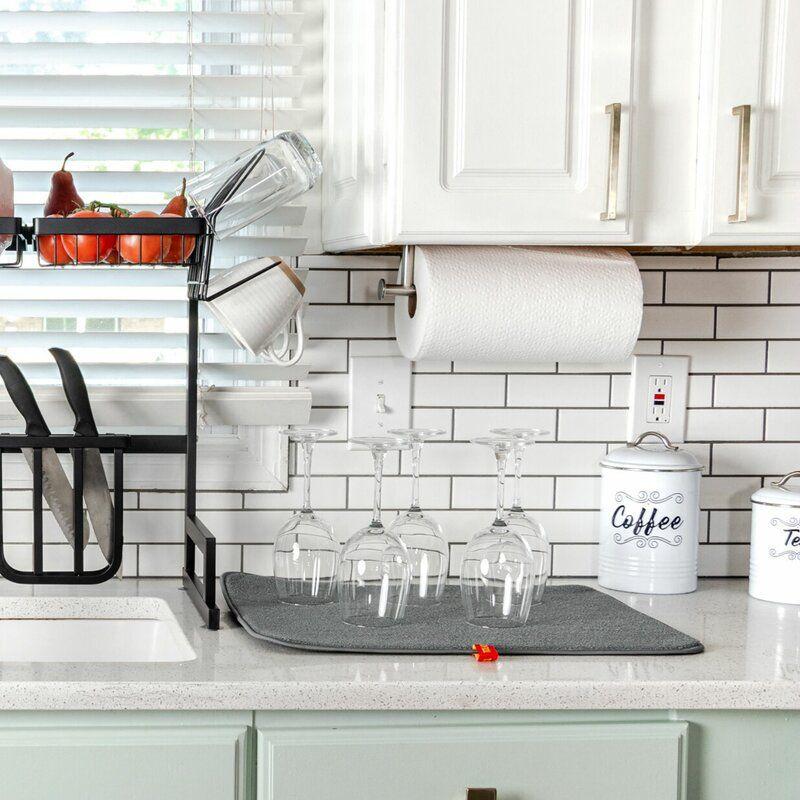 Micber Drying Mat In 2021 Dark Home Decor Dish Rack Drying Kitchen Helper