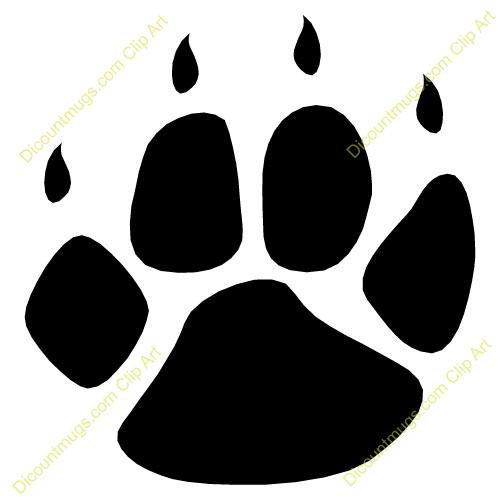 Gallery For Bobcat Paw Logo Paw Print Clip Art Bear Paw Print Paw Logo