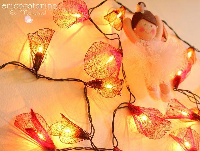 Fio de flores iluminadas   Flickr - Photo Sharing!