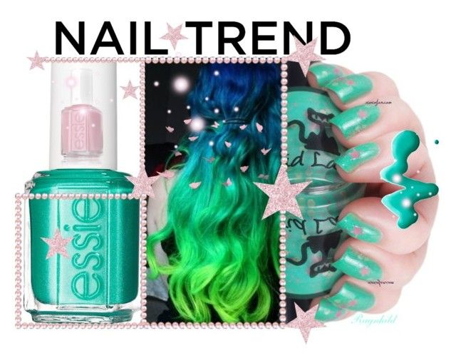 """""""Nail Trend"""" by ragnh-mjos ❤ liked on Polyvore featuring beauty, Essie, Topshop, contest and nailtrend"""