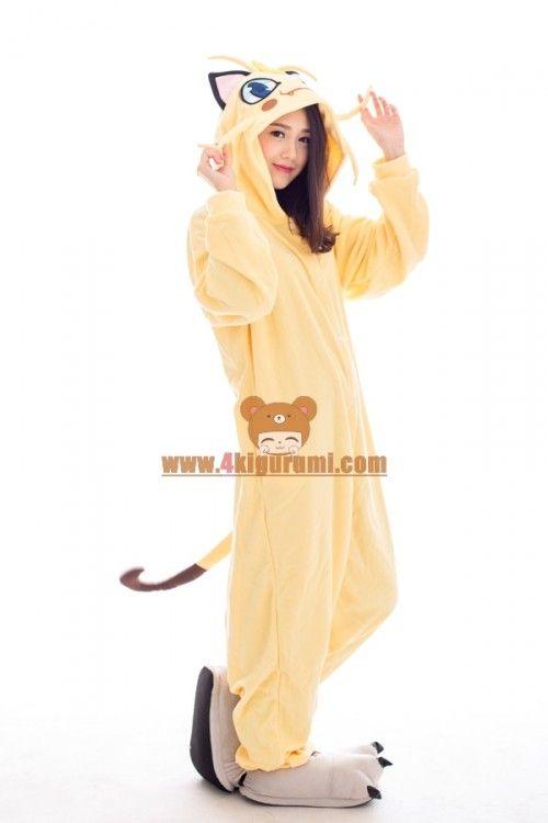 Pokemon Meowth Onesie 2016 Lovely Pajamas Juegos e279bbaac4ec